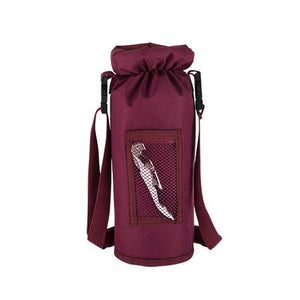 Grab & Go Insulated Bottle Carrier in Burgundy - Wine Craft