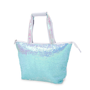 Mermaid Sequin Cooler Tote - Wine Craft