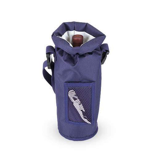 Grab & Go™: Insulated Bottle Carrier in Purple - Wine Craft