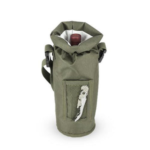 Grab & Go™: Insulated Bottle Carrier in Olive - Wine Craft
