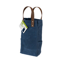 Waxed Canvas Double Bottle Wine Bag