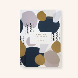 Personalised Abstract Pattern with Gold Detail Notebook