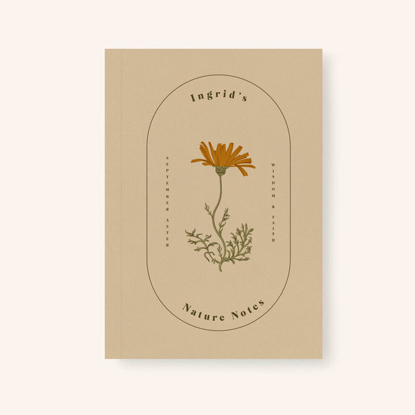 A5 Birth Flower Notebook