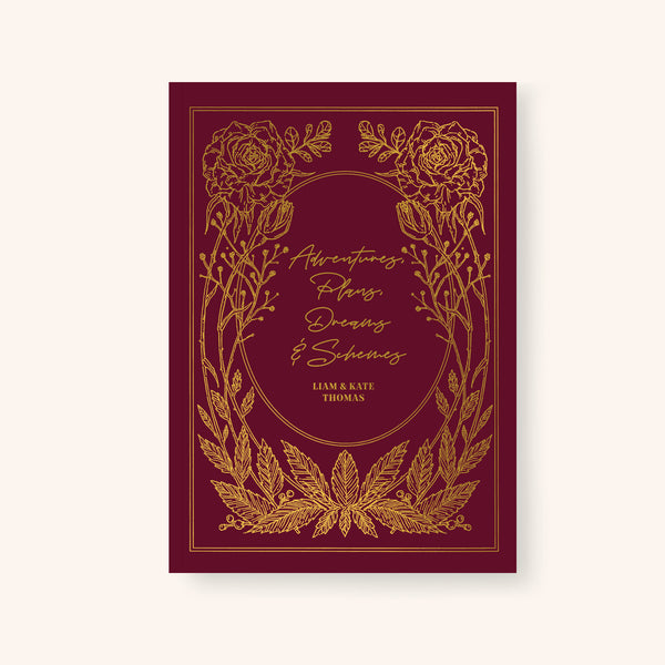 Vintage Style Title And Author Floral Notebook