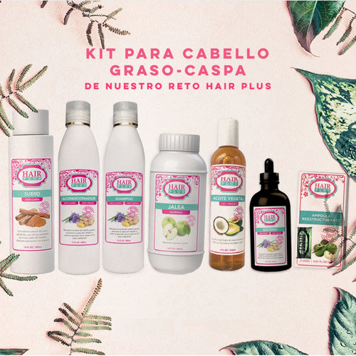 KIT PARA CABELLO GRASO-CASPA (Reto Hair Plus)
