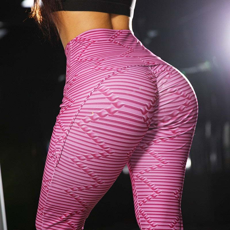Striped Heart Leggings