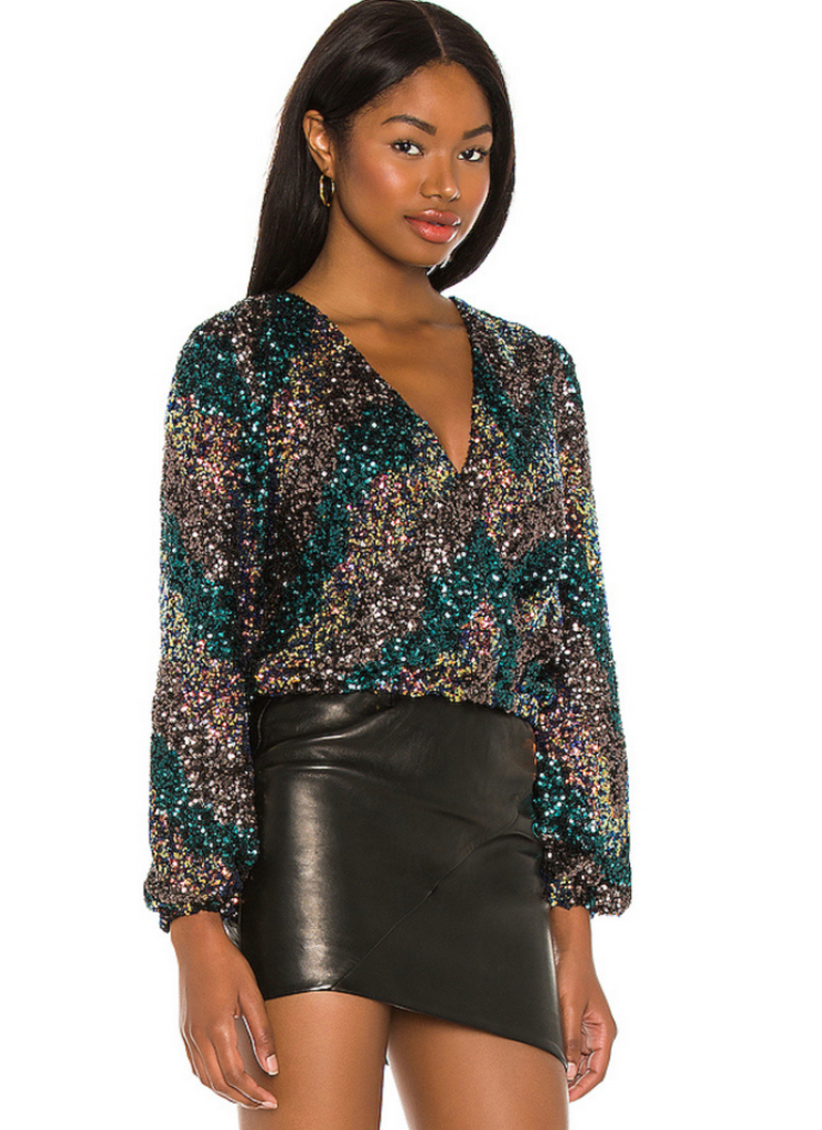 Primadonna Sunset Sequin Surplice Top