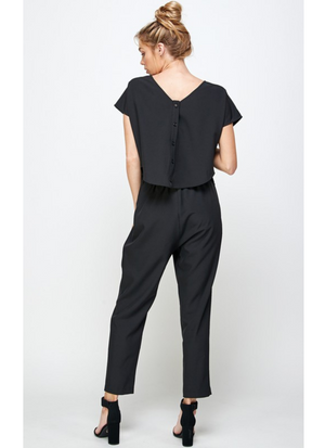Connect To Me Black Open Back Jumpsuit