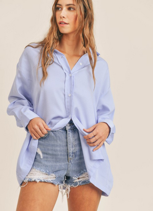 Summer Daydream Stripe Button Down Top