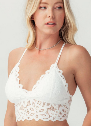 Bella Of The Ball White Lace Bralette