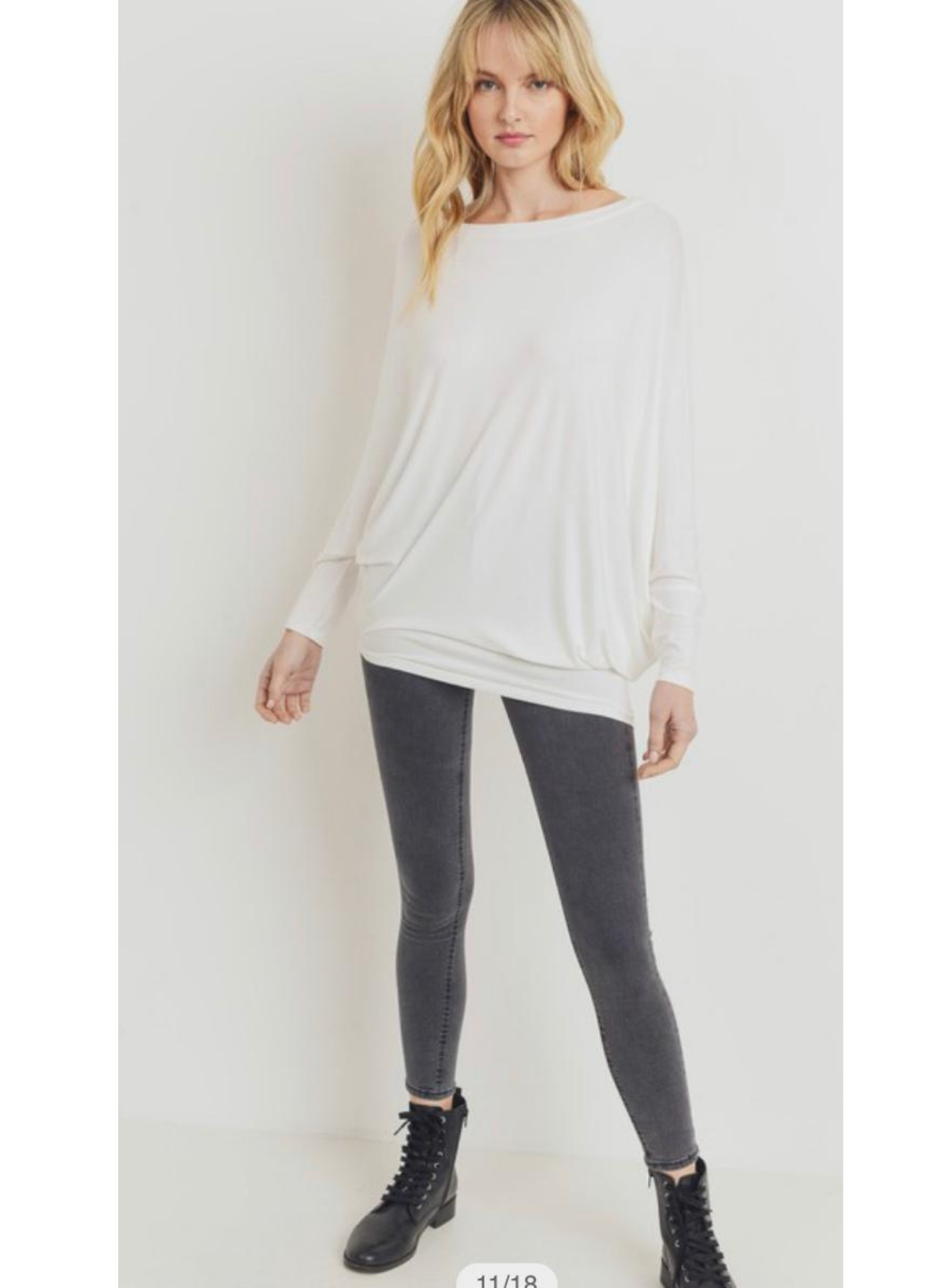 Asymmetrical Tunic White Top
