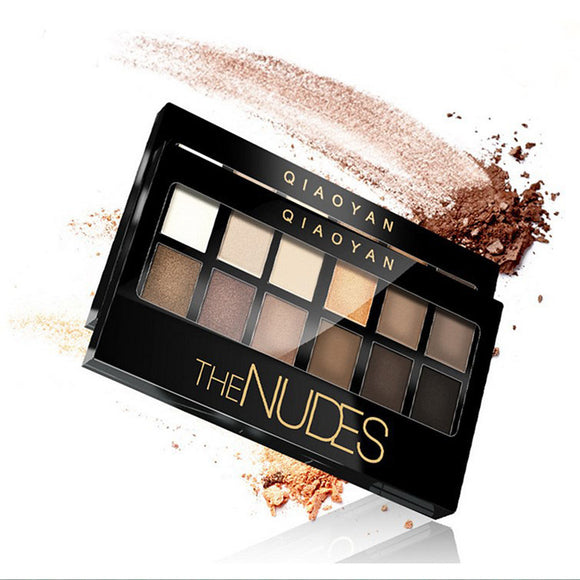 12 Colors Eyeshadow Palette / Powders Eye Matte / Shimmer / Glitter Shine / smoky Long Lasting Daily Makeup Cosmetic