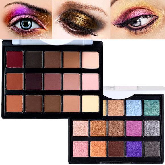 15 Colors Eyeshadow Palette / Powders Matte / Shimmer / Ammonia Free / Formaldehyde Free / Glitter Shine / smoky Waterproof Breathable Natural Daily Makeup / Halloween Makeup / Party Makeup Cosmetic
