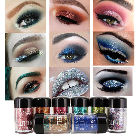 12 Colors Eyeshadow Eye / Cosmetic Waterproof / Matte / Gift / Shimmer / Glitter Shine / lasting / smoky Pot gloss Long Lasting water-resistant Halloween Makeup / Party Makeup Cosmetic