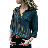 Women's Shirt - Solid Colored Shirt Collar Red
