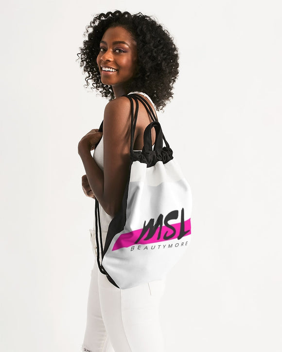 logo Canvas Drawstring Bag