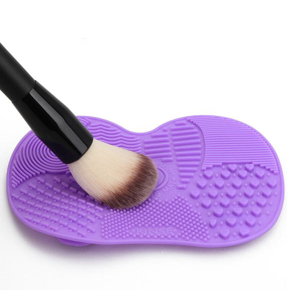 Silicone Brush Cleaner Mat Washing Tools for Cosmetic Make up Eyebrow Brushes Cleaning