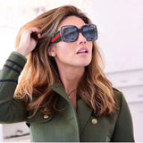 Oversized Rhinestone Sunglasses Women luxury Brand Shades Big Frame Ladies Trendy Sunglasses