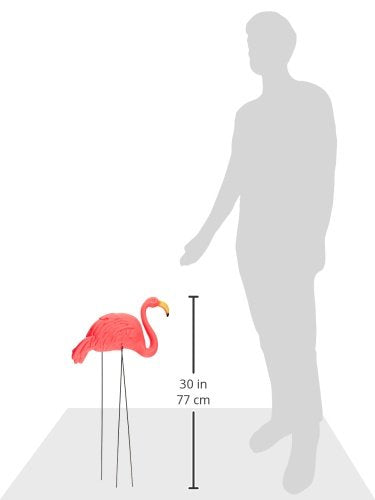 RINCO Large Pink Flamingo 3-dimensional Yard Ornaments - White Elephant Gift