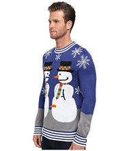 Load image into Gallery viewer, Tipsy Elves Ugly Christmas Sweater - Snowman Nose Thief Sweater (L)