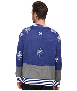 Tipsy Elves Ugly Christmas Sweater - Snowman Nose Thief Sweater (L)
