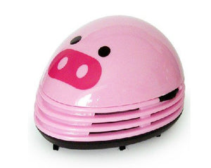 niceeshop(TM) Electric Desktop Vacuum Cleaner Mini Dust Cleaner Pink Pig Prints Design - White Elephant Gift
