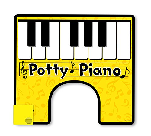 BigMouth Inc. Potty Piano, Hilarious Toilet Fun, Song Book Included for Your Potty Party - White Elephant Gift