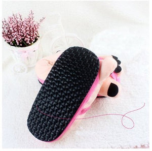 Eforstore Funny Winter Toe Big Feet Warm Soft Plush Slippers Novelty Gift Adult Shoes (Hot Pink) - White Elephant Gift