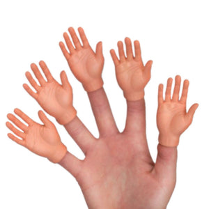 Set Of Five Finger Hands Finger Puppets - White Elephant Gift