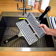Load image into Gallery viewer, The Keyboard Waffle Iron, Stovetop Waffle Maker, Makes Extra Large Waffles