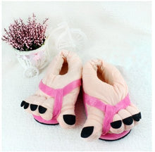 Load image into Gallery viewer, Eforstore Funny Winter Toe Big Feet Warm Soft Plush Slippers Novelty Gift Adult Shoes (Hot Pink) - White Elephant Gift