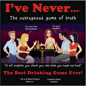 I've Never - The Classic Drinking Game For Adult Parties - White Elephant Gift