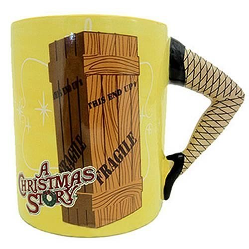 A Christmas Story Leg Handle Coffee Mug Lamp Xmas Movie Sculpted Cup Fragile - White Elephant Gift
