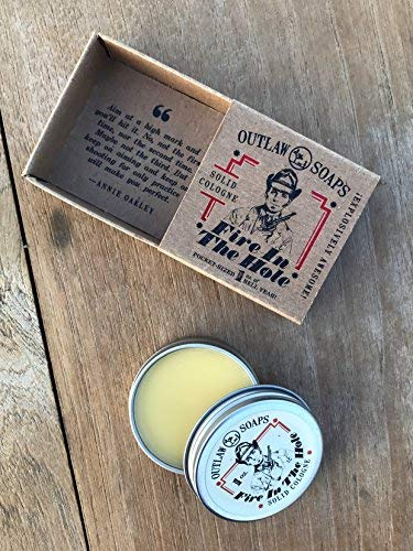 Fire in the Hole Campfire Solid Cologne - Explosively Awesome Cologne - 1 oz - Smells like campfire, gunpowder, sagebrush, whiskey, and basically a great weekend camping - Men's or Women's Cologne - White Elephant Gift