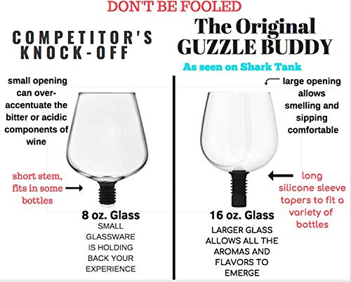Guzzle Buddy 2GO Unbreakable - Tritan Plastic Wine Bottle Glass (clear) - White Elephant Gift