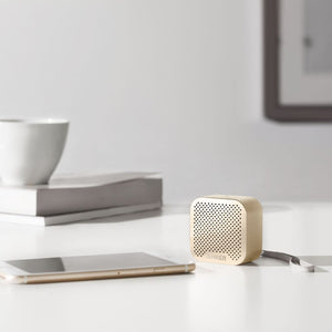 Anker SoundCore Nano Bluetooth Speaker with Big Sound, Super-Portable Wireless Speaker with Built-in Mic for iPhone 7, iPad, Samsung, Nexus, HTC, Laptops and More - Gold - White Elephant Gift