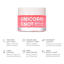 Load image into Gallery viewer, Unicorn Snot Vegan and Cruelty Free Glitter Gel for Face, Body, and Hair in Holographic Pink - White Elephant Gift