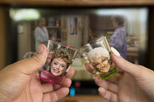 Load image into Gallery viewer, Golden Girls Shot Glasses | Fun Drinking Games | Set of 4 Collectible Glasses | Perfect For Parties, Game Night, Bachelor, Bachelorette Party, College Graduation and Birthdays - White Elephant Gift