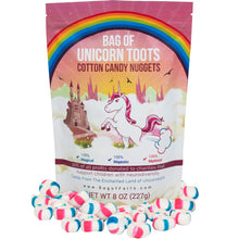 Load image into Gallery viewer, Bag of Unicorn Toots Half Pound Of Candy Funny for All Ages Unique Birthday for Friends, Mom, Dad, Girl, Boy Stocking Stuffer White Elephant Funny Christmas Gag Gift - White Elephant Gift