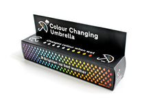 Load image into Gallery viewer, Suck UK Colour Change Folding Travel Umbrella-Lightweight, Weatherproof & Unisex, Adult, Multi - White Elephant Gift