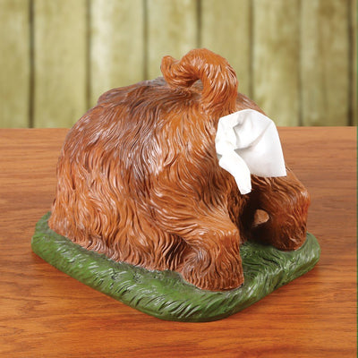 WHAT ON EARTH Digging Dog Butt Tissue Holder - Funny Square Shaped Tissue Box Cover - White Elephant Gift