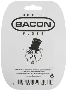 Archie McPhee Accoutrements Waxed Bacon Floss - White Elephant Gift