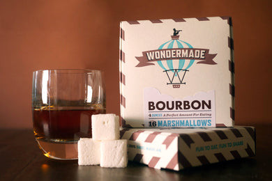 Wondermade Bourbon Gourmet Marshmallows 16 Per Box - White Elephant Gift