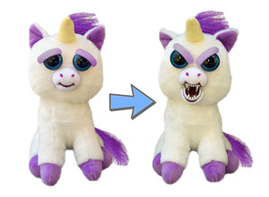 Feisty Pets Glenda Glitterpoop the Unicorn that Turns Feisty with a Squeeze - White Elephant Gift
