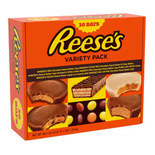 Load image into Gallery viewer, REESE'S Chocolate Peanut Butter Holiday Candy Variety Pack Gift Set, 30 Count