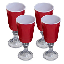 Load image into Gallery viewer, Red Cup 16-Ounce Stemmed Wine Glass - 4-Pack - White Elephant Gift