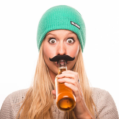 Beardo BeerMo Bottle & Pacifier Mustaches, 6 Pack, Colors - White Elephant Gift
