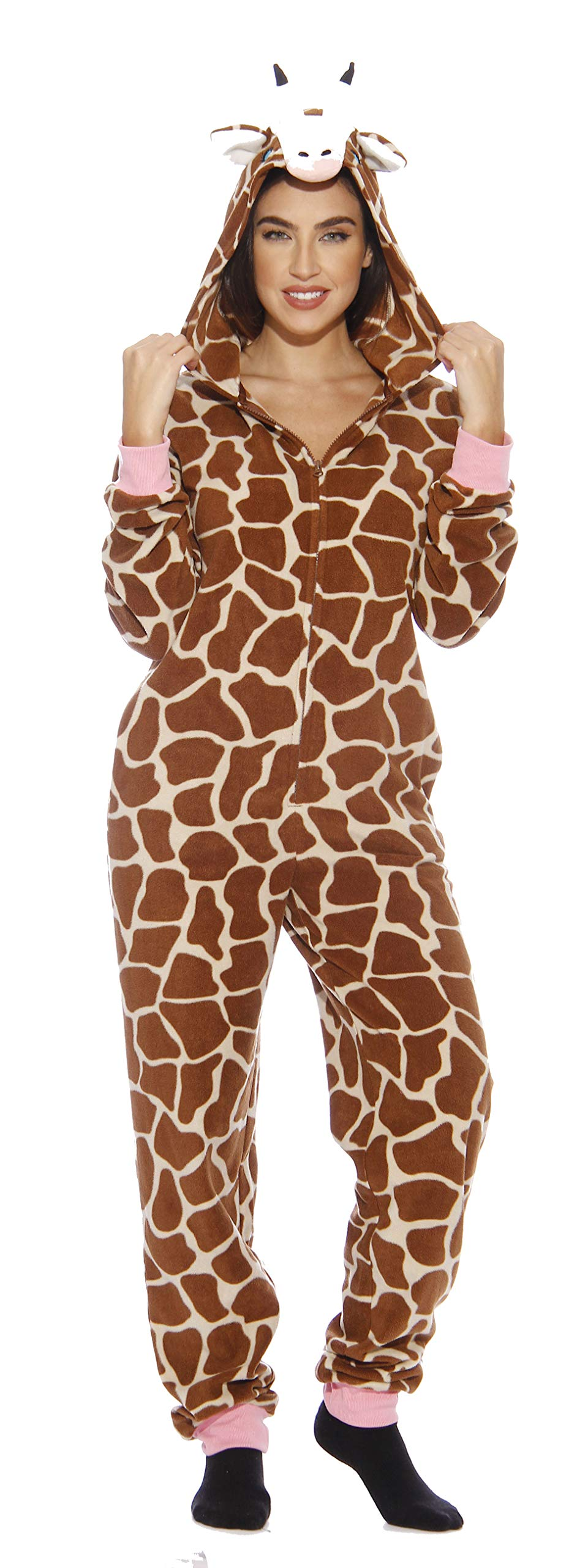 L6401-L-Giraffe #FollowMe Adult Onesie Pajamas