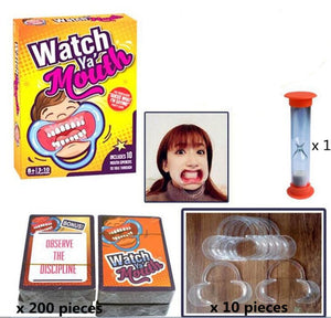 Watch Ya' Mouth Original Mouthpiece Game - The Hilarious Family and Party Game - White Elephant Gift