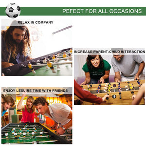 "Giantex 27"" Foosball Soccer Competition Table Top Set Game Room Sports with Legs - White Elephant Gift"